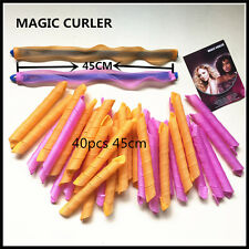 40Pcs 45cm  Magic Curlers for Curly Hair DIY No Heat Cheap Roller Tools HOT