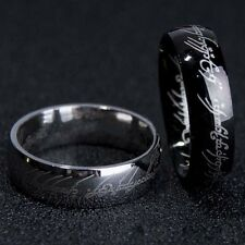 New Lord of the Rings The One Ring LOTR Titanium Steel Wedding Ring Jewelry Gift