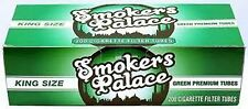 Smokers Palace Green King Cigarette Filter Tubes-Lot of 5 Boxes=1,000 Tubes
