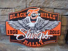 STURGIS SOUTH DAKOTA BIKER MOTORCYCLE BLACK HILLS RALLY BADGE METAL BAR MAN CAVE