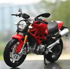 Maisto 1:12 Ducati Monster 696 Motorcycle Bike Model Toy Red New In Box