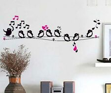 Singing Birds High Quality Vinyl Girls Kids Children Bedroom Wall Stickers