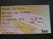 ONE MAN, TWO GUVNORS  LONDON  18/02/2012  TICKET
