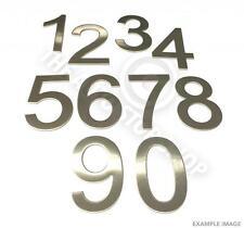 ACCIAIO inossidabile Numeri CIVICI-n. 95-Stick On Self Adesivo 3M supporto 10cm