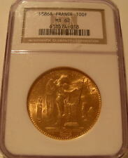 France 1886 A Gold 100 Francs NGC MS-62 Angel