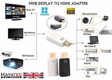 Mini Thunderbolt Display DP Port to HDMI Adapter for iMAC Macbook Air Pro HP UK