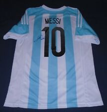 Lionel Messi hand autographed signed 2015 Argentina Home jersey W/COA Barcelona