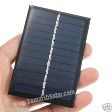 6v 100mA mini Solar Panel For Charging Batteries Upto 4v 0.6w MADE IN INDIA