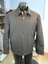 MENS BANANA REPUBLIC BLACK PVC JACKET SIZE LARGE