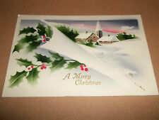 A MERRY CHRISTMAS POSTCARD CIRCA 1910 T.I.C. MADE IN GERMANY