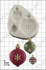 Silicone mould Xmas Baubles | Food Use FPC Sugarcraft FREE UK shipping!