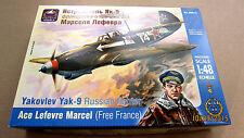 Yakovlev Yak-9 Russian fighter, ace L. Marcel    1/48  by ARK Model # 48014