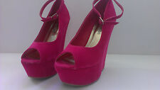 Moda Girl Women's Pink Platform Shoes Size 5