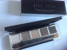 Bobbi Brown RICH CARAMEL Eye Makeup Palette + Eyeshadow / Liner Brush NEW Ltd Ed