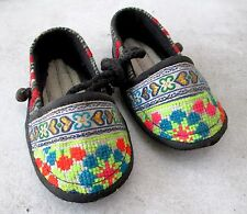 Really Cute! Akha Hill Tribe Cotton Baby Bell Shoes HANDMADE 5 inch