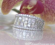 Nobel: Brillanten Bandring mit Baguette Diamanten 2.38 ct. TW+ VS/VVS/IF 10.300€