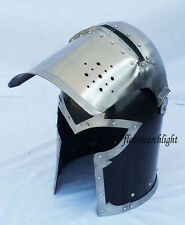 MEDIEVAL VISORED BARBUTA HELMET HALLOWEEN ROLE PLAY COSTUME DRESS BARBUTE HELM