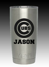 Yeti Rambler 20 oz stainless cup engraved Chicago Cubs Custom World Series