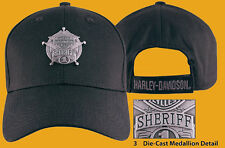 HARLEY DAVIDSON Mens Sheriff Original Medallion Black Cotton Baseball Cap hat