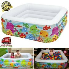 62.5 Inch Inflatable Pool Center Kids Ball Pit Swim Plastic Colorful Family Time