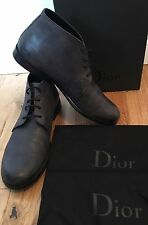 Christian Dior Men's Buttero Dark Grey Ankle Boots Uk 7 EU 41 Rrp £535 Italy