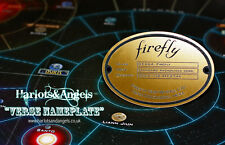 Firefly Serenity Ship Name Plate. Large Shiny Brass Laser engraved Acrylic