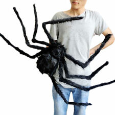 Black Spider Halloween Decoration Haunted House Prop Indoor Outdoor Wide NEW KY