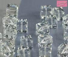 Grano de cubo de cristal Swarovski 4x claro 5601 8mm-valor increíble! 75p cada uno