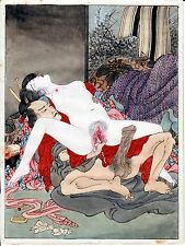 """SHUNGA"" XXX""A SIX PIECE SET  REPRINTS OF EROTIC  PAINTINGS MEIJI PERIOD +"