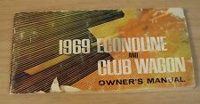 "ORIGINAL 1969 FORD VAN Owner's MANUAL~""Econoline and Club Wagon""~"