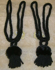 SET OF 2 ROPE CORD CURTAIN TIE BACKS WITH TASSEL