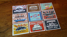 Retro Vintage Classic Sticker Pack Slap Pack Matt Vinyl 9 Stickers