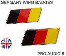 2x Germany Flag Wing / Fender Badges - German Universal Car Van - UK Fast Post