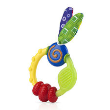 Nuby Babycare Wacky Looney Teething Ring Baby Soothing Teether Infant Toy 3m+