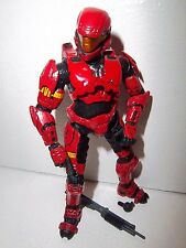 Halo 3 Collection **RED ARMOR SPARTAN ODST** Figure 100% Complete w/ Gun!!