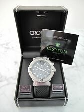 CROTON : Tachymeter Men's Wrist Watch Stainless Steel Water Resistant Sport Band