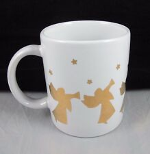 White Gold Christmas Angel Mug Holidays Sanyei