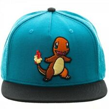 OFFICIAL NINTENDO'S POKEMON CHARMANDER BLUE COLOUR BLOCK SNAPBACK CAP (NEW)