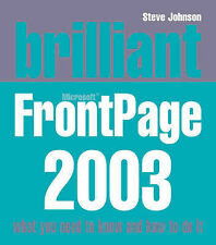 Brilliant Frontpage 2003, Johnson, Mr Steve, Used; Good Book