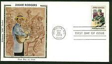 1755 JIMMIE RODGERS FDC MERIDIAN, MS COLORANO SILK CACHET