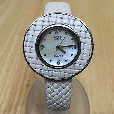 KLJ By Kenneth Jay Lane Lady Braided Leather Analog Quartz Watch Hour~New Batter