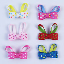 Handmade 6pcs 2inch rabbit animal Hair bows girl baby gift plastic clips C201 Y