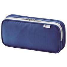 Lihit Lab double Pen Case Pencil L Blue Book Spread style type from Japan