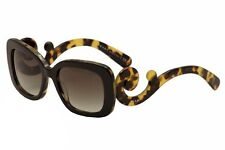 Prada Women's Baroque SPR27O SPR/27O NAI0A7 Black/Havana Fashion Sunglasses 54mm