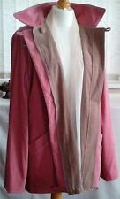 Women reversible jacket blazer suede napped finish Atelier Rose / Grey Brown M/L