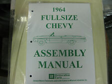 1964 FULLSIZE CHEVY IMPALA, BELAIR, BISCAYNE (ALL MODELS) ASSEMBLY MANUAL