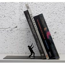 Fred BOOKEND The END Falling Books Black Designer Book End Fun Gift Dooms Day