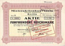 Mieteraktienbauverein Gemeinnützige AG  Berlin  1928  Wohnungsbau Eintracht
