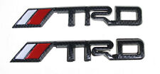2pc Metal TRD Toyota Racing auto Car Truck Emblem Badge Decal 3D Sticker Carbon