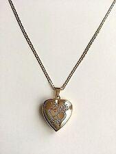 """18K GOLD FILLED CADENA DE CORAZON 18""""/18 K GOLD FILLED HEART LOCKET NECKLACE 18"""""""